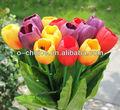 Novo seda tulipa flor atacado& flor artificial tulipa na decoração da casa