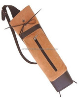 100% Pure Leather Handmade Adult Archery bow hunting Arrow Quiver, Back Quiver