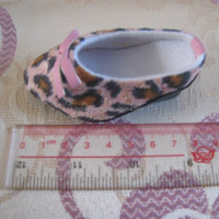 Leopard pattern fabric,high heel TPR Elegant Doll Shoe