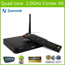 T8 Quad core Android 4.4 Smart tv box full loaded xbmc kodi Smart media player HD