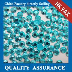 X0330 sky color hot sale wholesale hot fix octagon ,hot fix octagon accessories,cheap hot fix aluminum rhinestud octagon
