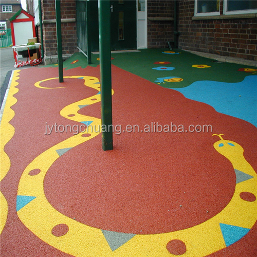 Kindergarten Epdm Rubber Mat Outdoor Rubber Flooring