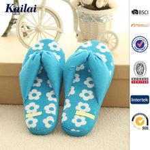 Custom special design beauteous blue girls flip flop