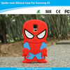 3d silicone phone case for Samsung galaxy s5 spider-man case