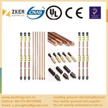 Best selling Low price ODM Good conductivity copper clad steel ground rod 17.2mm