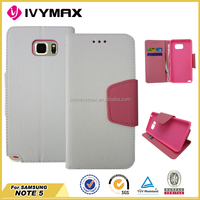 accessories PU leather case for Samsung NOTE5 cell phone case
