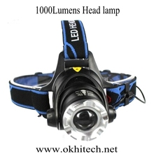 xml-t6 camping headlamp LED miner helmet head light for mining/hunting/hiking/fishing