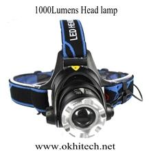 zoom xml-t6 LED miner hiker fisher hunter camper camping headlamp LED miner helmet head light for mining/hunting/hiking/fishing