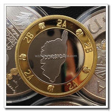 high quality sand blast and epoxy dome metal coin