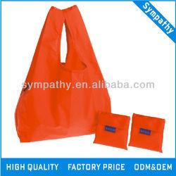 Nylon tote folding shopping bag/fold up nylon bag