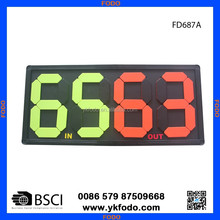 Soccer player change board substitution board (FD687)