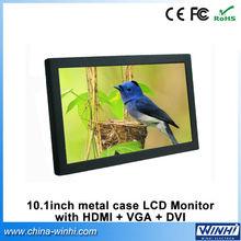 10.1 inch real 1080P industrial high definition VGA+DVI camera screen lcd 12v monitor