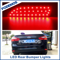 Car rear led tail light brake lamps car led tuning lights modified led car lights for Ford Focus 3 2011~ON