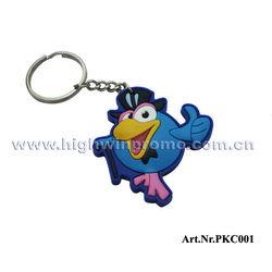 Bird Design 3D Soft PVC Key chain