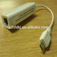 el mercado de china de la electrónica más calientes de venta de usb rj45 cable para pc micro usb cable
