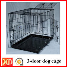 Foldable Flat Packing Plastic Coated Iron Wire Dog Cage