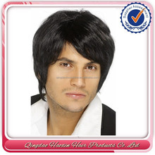 Best selling cheap lace front men human hair wig with bangs