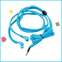 Waterproof earphone with shoe lace design
