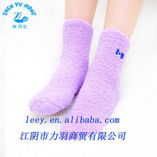 women's terry-loop hosiery, pure colored winter socks, name made China OEM service