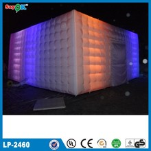 Wedding/party inflatable lighting cube/igloo tent, inflatable event tent for sale