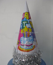 wholesale handmade new design fashion Color disposable birthday paper hat for promotion