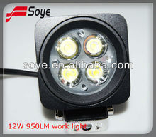 6000k flood and spot beam waterproof 2012 Hot sell LED work light 12w