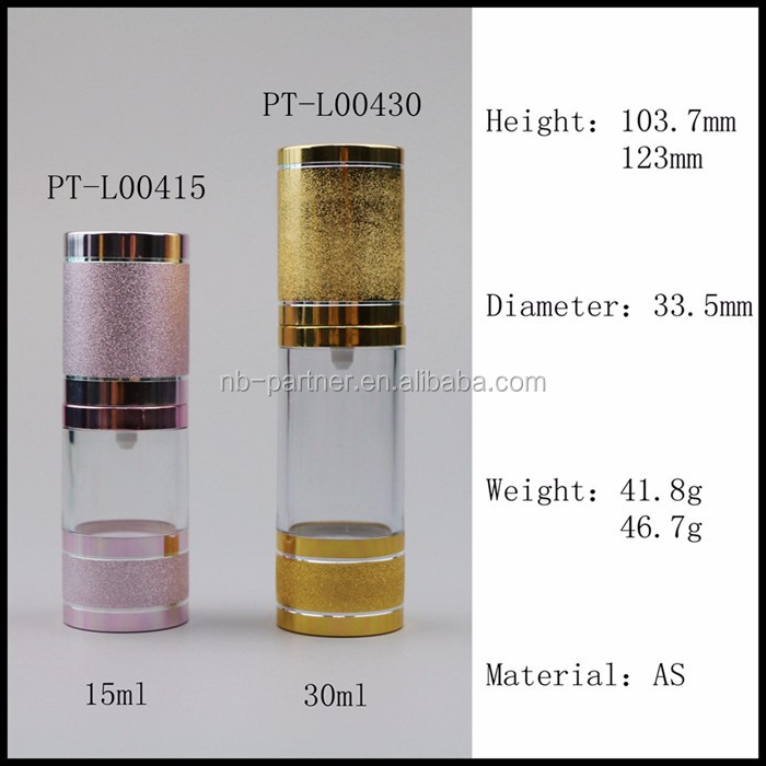 Free Samples Cosmetics Packaging 30ml 50ml Gold Silver