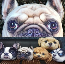 Zoo style creative gift kids bedding 3D animal printed toy large size animal shape plush dog cushion