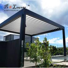 Pergola motorized sun louver,waterproof louver,open roof louver