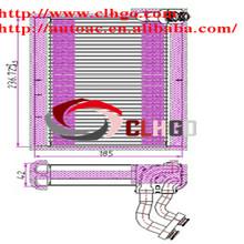 Core-Evaporator Parallel Flow Front /ac fin aluminum evaporator for SUZUKI