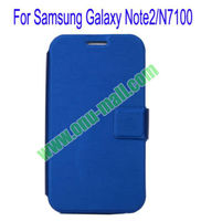 Ultrathin Magnetic Folio stand leather case for samsung galaxy note2 n7100