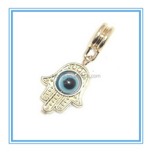 2015 Trendy Goldtone Hamsa or Hand of Fatima Moving Eye Charm Bead for Snake Chain Charm Bracelet
