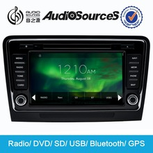 Audiosources car dvd player for Skoda with canbus +ipas+dvd+sd+usb