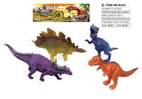 4 pcs cheap plastic pvc soft dinosaur toys , best plastic soft pvc dinosaur toys for kids