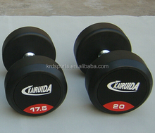 Hot sales!With Color Logo Gym equipments, Rubber Dumbbell