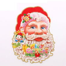 Wholesale Christmas decorations, Christmas stickers, double-sided three-dimensional collage of Santa Claus