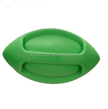 squeak nature rubber Fun football shaped dog play toy