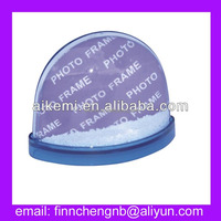 plastic Half-sized picture insert snow globe with magnet
