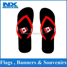 custom popular heat transfer printing flip flop sandal wholesale