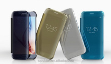 2015 Wholesale for samsung galaxy s6 edge new mirror case with touch screen protector case