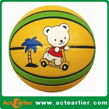 cheap custom rubber basketball promotional 5