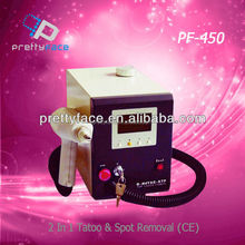 2016 PROFESSIONAL 1064nm q switch nd yag laser tattoo remover