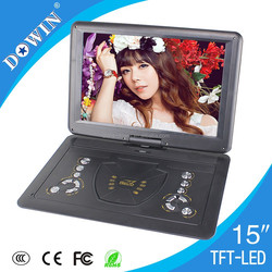 "Best Price 15"" TFT Large Screen Portable DVD/VCD/CD Player With Game And FM Radio"