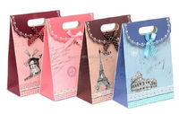 2015 fashion mini gift kraft paper bag/ rainbow favor bags/ stripes paper bags