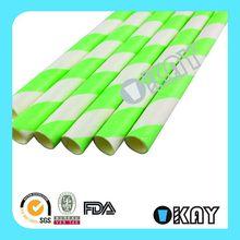 Design Hot Sell Purple Decorative Striped Paper Straws