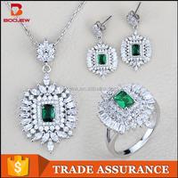 turkish wholesale new model rhinestone lady imitation set jewellery