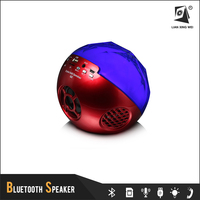 portable bluetooth small computer speakers led light