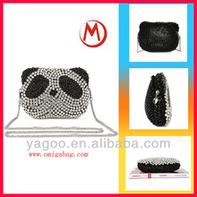 new design fashion durable panda shape bling bling pu handbag popular lady elegant tote bag 2014