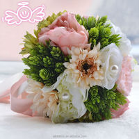 Cheap artificial flower wedding Peony Rose Daisy new popular decoration