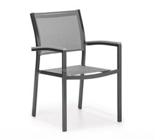 Hot sale outdoor furniture mesh fabric seat and back aluminum chair